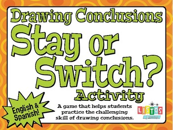 DRAWING CONCLUSIONS 'Stay or Switch?' Activity - English & Spanish
