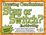 DRAWING CONCLUSIONS 'Stay or Switch?' Activity - English &