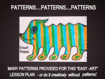 DRAWING CRAZY HALFWAY CREATURES with optional patterns