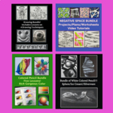 Art DRAWING Bundle Middle or High School Art Distance Learning