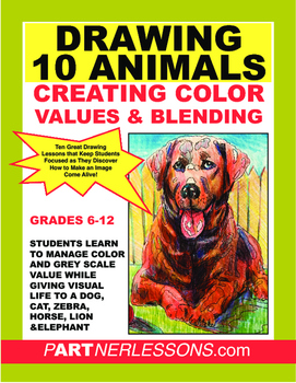 DRAWING & SHADING EXERCISES USING TEN ANIMALS