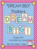 "Martin Luther King Day ""Dream Big"" Poster Set (FREE)"