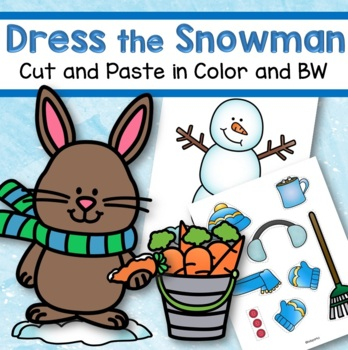 DRESS the SNOWMAN Cut and Paste FREE