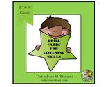 Listening Skills TASK CARDS  - Grades 2 to 5