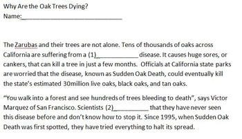 DRP Why Are the Oak Trees Dying