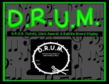 D.R.U.M. Award & Bulletin Board Pack