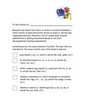 DSA Parent Letter
