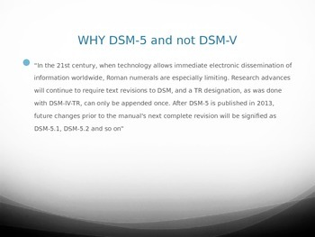 DSM-5 Power Point