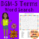 DSM-5 Terms Word Search