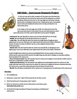 DSO Kids - Instrument Research Project