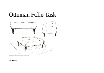 DT Woodwork Ottoman project