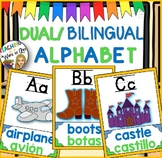 DUAL/BILINGUAL ALPHABET- BLUE FOR ENGLISH GREEN FOR SPANISH
