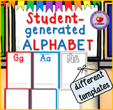 DUAL/BILINGUAL ALPHABET TEMPLATE for student generated alphabets