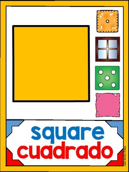 DUAL/BILINGUAL COLORS AND SHAPES POSTERS