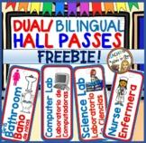 DUAL/BILINGUAL Hall Passes FREE