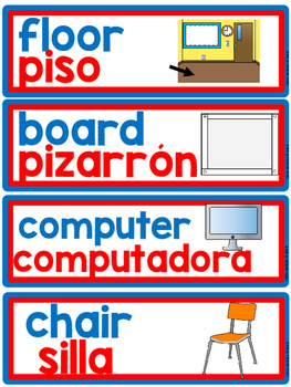 DUAL/BILINGUAL LABELS for the classroom by Teaching is a ...