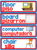 DUAL/BILINGUAL LABELS for the classroom