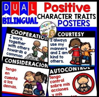 DUAL/BILINGUAL Character Traits Posters