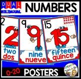 DUAL/BILINGUAL NUMBER CARD SET 0-20