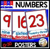 DUAL/BILINGUAL NUMBER CARD SET 1-30
