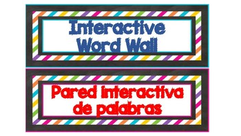 DUAL LANGUAGE CLASS CHALKBOARD BRIGHT LABELS