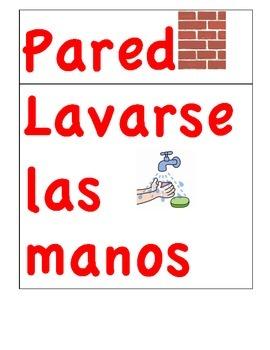 DUAL LANGUAGE CLASSROOM SPANISH LABELS