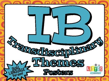 IB TRANSDISCIPLINARY THEME Posters - DUAL LANGUAGE Version!