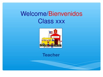 DUAL LANGUAGE Meet the Parents Presentation in English and