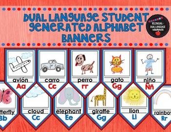 DUAL LANGUAGE STUDENT GENERATED ALPHABET BANNERS
