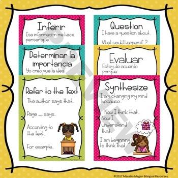 Thinking Stem Posters - Carteles de tallos de pensamiento