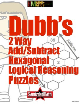 DUBB'S Two-Way Addition Subtraction Logical Reasoning Puzzle Cards