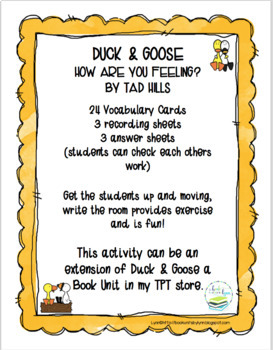 DUCK AND GOOSE WRITE THE ROOM