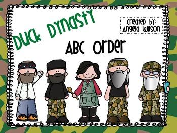 DUCK DYNASTY ABC Order
