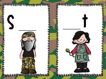 DUCK DYNASTY Capital and Lowercase Letter Match Write the Room