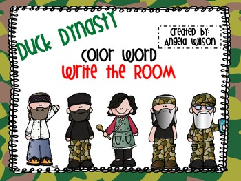 DUCK DYNASTY Color Word Match Write the Room