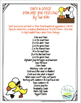 DUCK & GOOSE.  HOW ARE YOU FEELING?