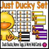 Duck Themed Dramatic Play Money and Name Plates