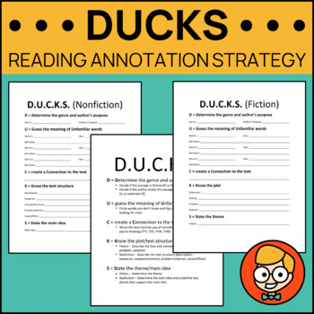D.U.C.K.S. Reading Annotation Strategy