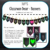 DUFF Classroom Decor - Chalkboard and Neon Banner Set