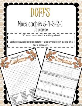 DUFFS Guilt Free Word Searches - Mots Cachés 5-4-3-2-1 (L'automne)