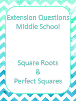 DUFFS Math Extension Questions - Square Roots and Perfect Squares (French)
