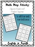 DUFFS - Math Maze Activity - Perfect Square and Square Roots
