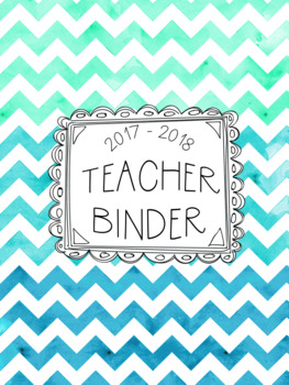 DUFFS Teacher Binder Covers (Caribbean Ocean Binder Premium)