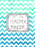 DUFFS Teacher Binder Covers (Caribbean Ocean Binder Premium)