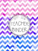 DUFFS FREE Teacher Binder Covers (Cotton Candy Chevron)