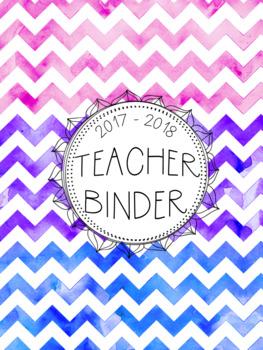 DUFFS Teacher Binder Covers (Cotton Candy Chevron Binder Premium)