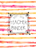 DUFFS Teacher Binder Covers (Fruit Punch Brush Stripes Premium)