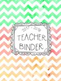 DUFFS Teacher Binder Covers (Melon Chevron Premium)