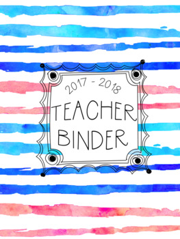 DUFFS Teacher Binder Covers (Ocean Sunset Brush Stripes Premium)