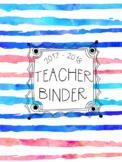 DUFFS Teacher Binder Covers (Ocean Sunset Brush Stripes Premium)